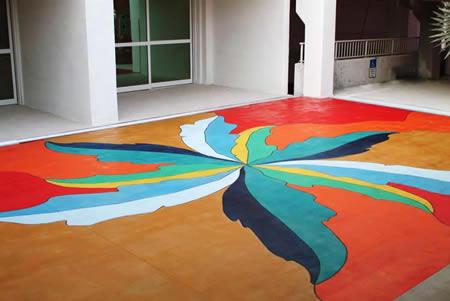 Gekleurd beton