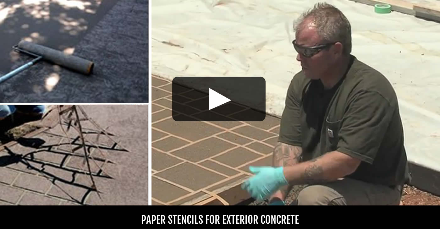 Concrete Stencils Purchasing Tips amp Expert Installation