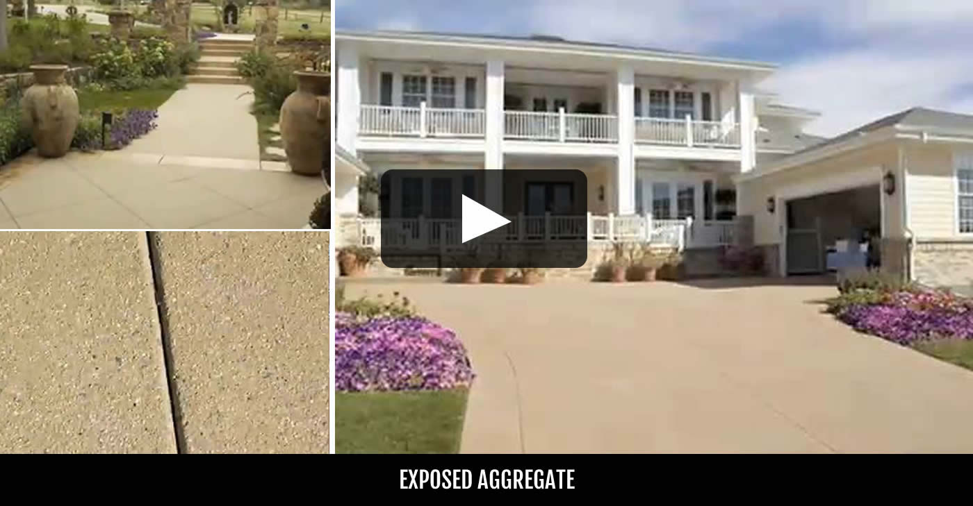 Sealing exposed aggregate pool deck - Exposed Aggregate Concrete