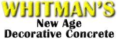 Whitman's New Age Decorative Concrete