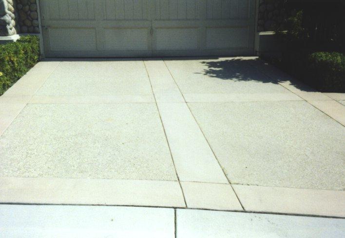 Decorative Concrete Combining Various Elements In