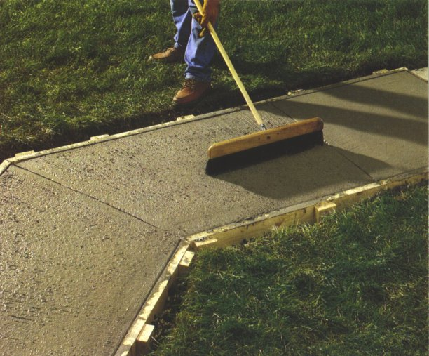 how to clean concrete walkway