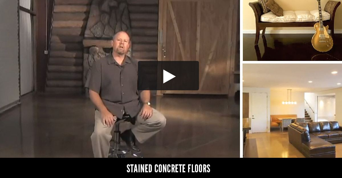 stained concrete floors ideas for concrete stains - Concrete Floor Design Ideas