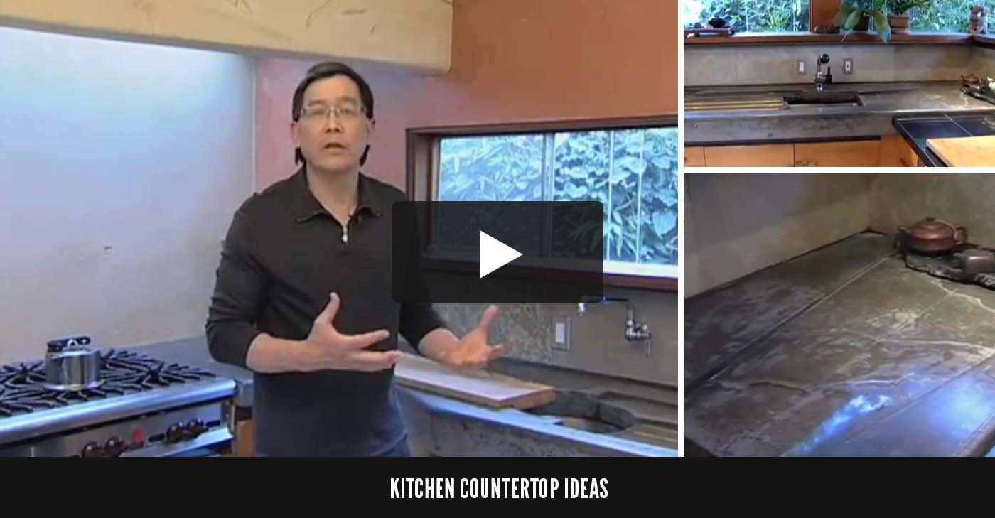 Kitchen Countertop Ideas ConcreteNetwork.com. Concrete Countertop Black