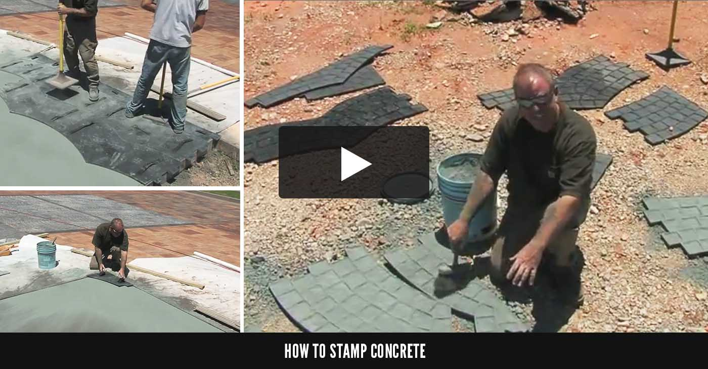 How To Buy Concrete Stamps Stamp Mats Amp Tools The
