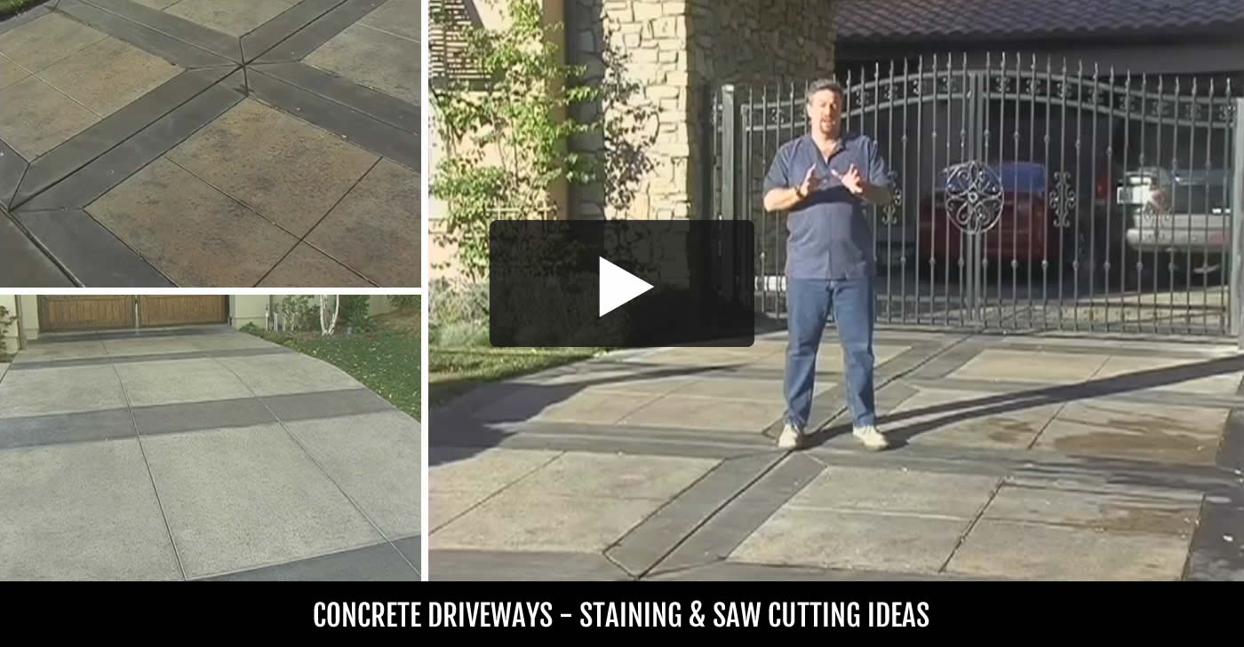 colored - Concrete Driveway Design Ideas