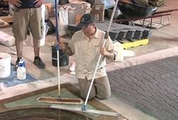 Applying floor wax the concrete network for Mop on concrete floor wax