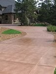 Tan Brown Driveway Concrete Driveways Decorative Coatings and Concrete Company Aurora, CO