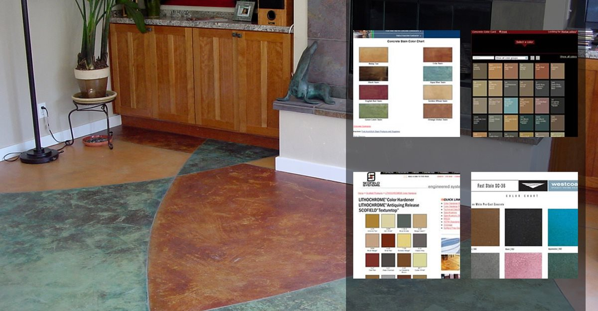 Color Chart Concrete Patios Diamond D Company Capitola, CA