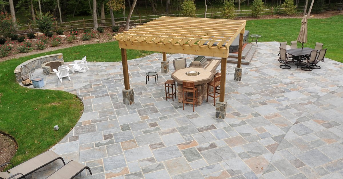Stamped Concrete Design Ideas concrete patio stamped concrete patios heres a large stamped concrete pat Concrete Patio Patio Design Ideas
