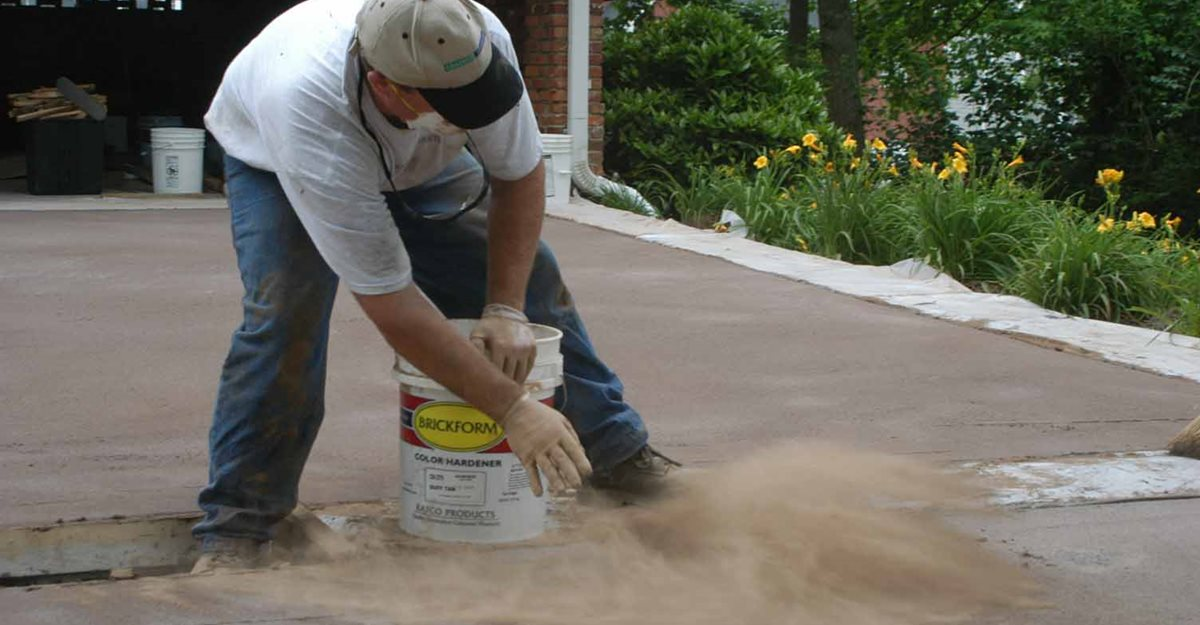 Color Hardener Application Concrete Pool Decks Decorative Concrete Institute Temple, GA