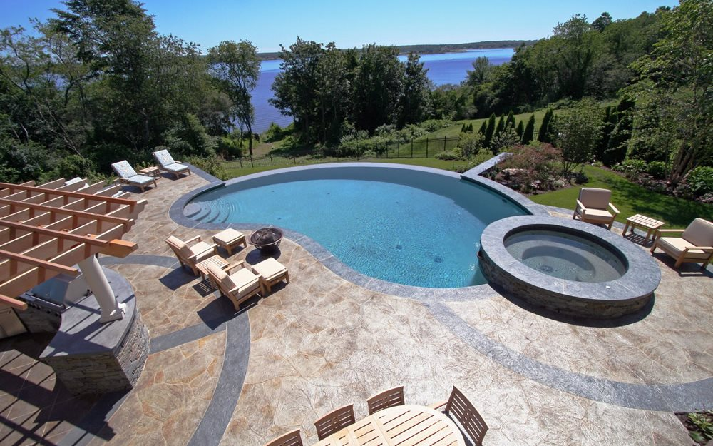 Concrete Pool Decks New England Hardscapes Inc Acton, MA In Concrete Pool Designs