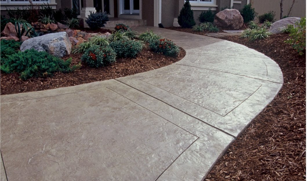 texas stamped concrete walkway concrete walkways one awesome concrete missouri city tx - Sidewalk Design Ideas