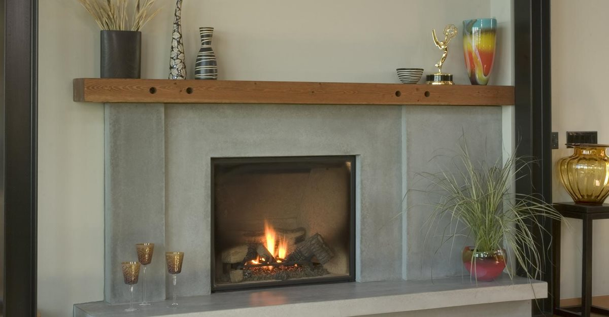 Concrete fireplace information including design ideas
