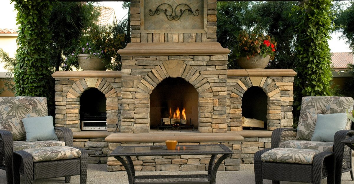 outdoor fireplace - backyard fireplace designs and ideas - the ... - Patio With Fireplace Ideas