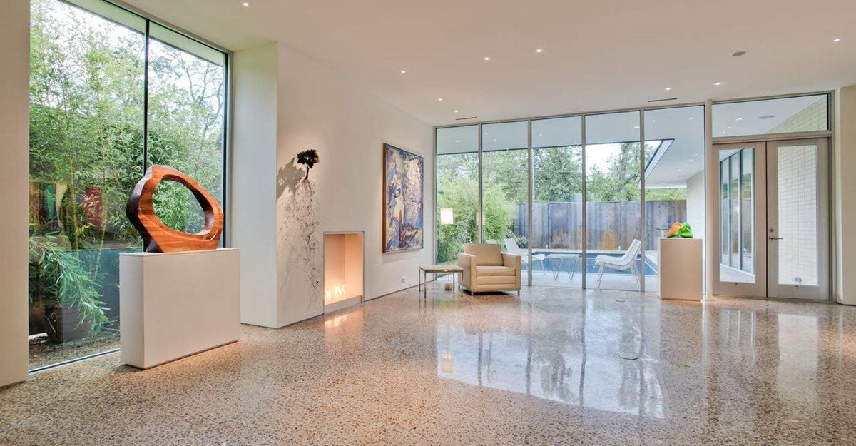 Stained Concrete Floors In Homes : How to polish a concrete floor the network