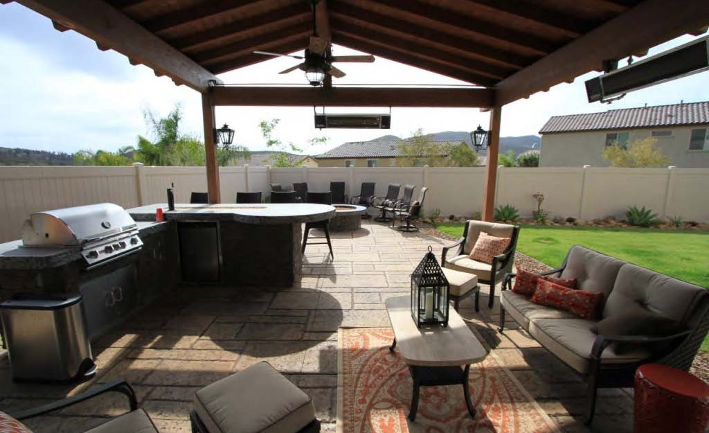 concrete patio and fire pit site allen decorative concrete escondido ca - Patio Fireplace Designs