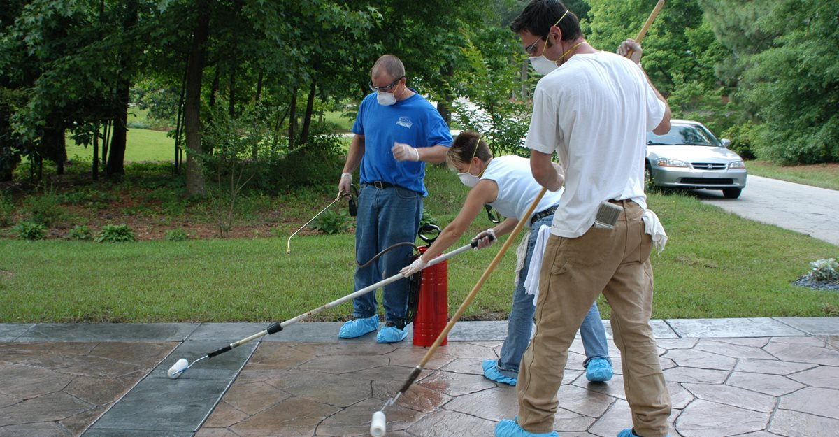 Sealer Application Site Decorative Concrete Institute Temple, GA