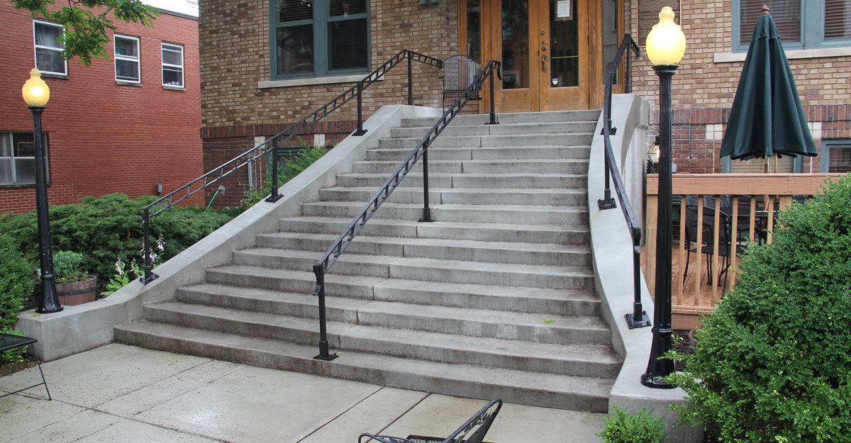 Gray, Concrete, Stairs Steps and Stairs Mattingly Concrete Indianapolis, IN