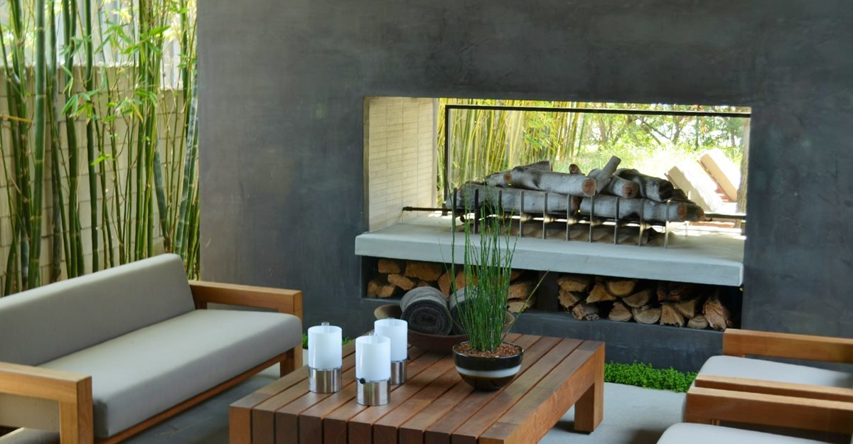 Modern Backyard Fireplace Outdoor Fireplaces ConcreteNetwork.com ,
