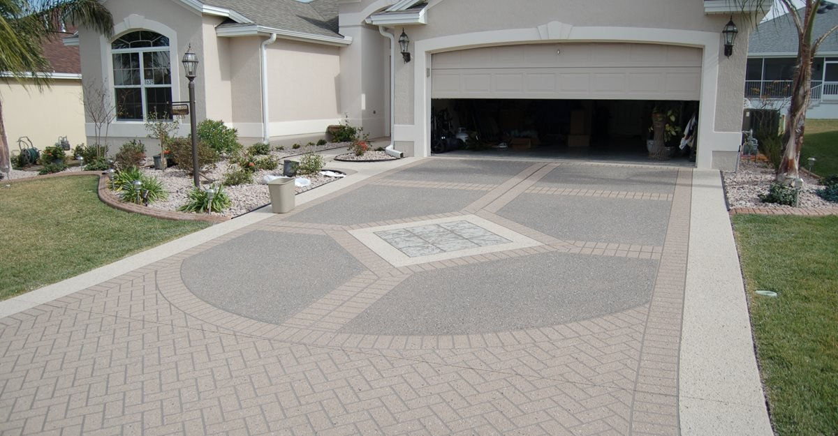 concrete driveways the concrete network - Concrete Design Ideas