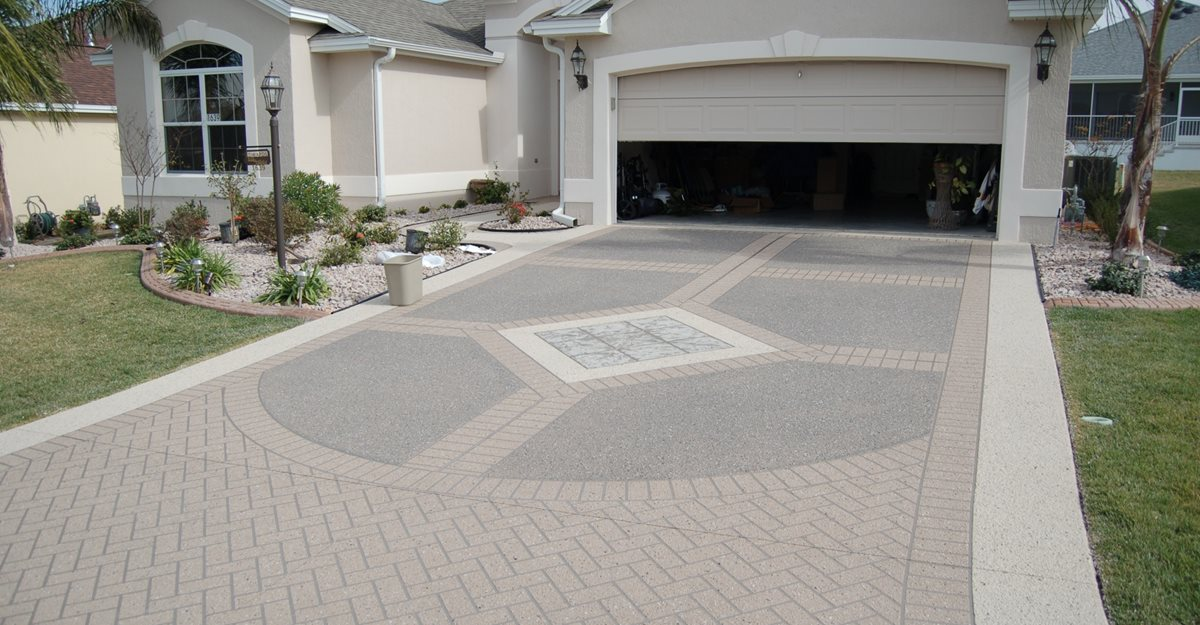 Superior Decorative Concrete Driveway, Stencil Template Concrete Driveways Custom  Ram Design Ocala, FL