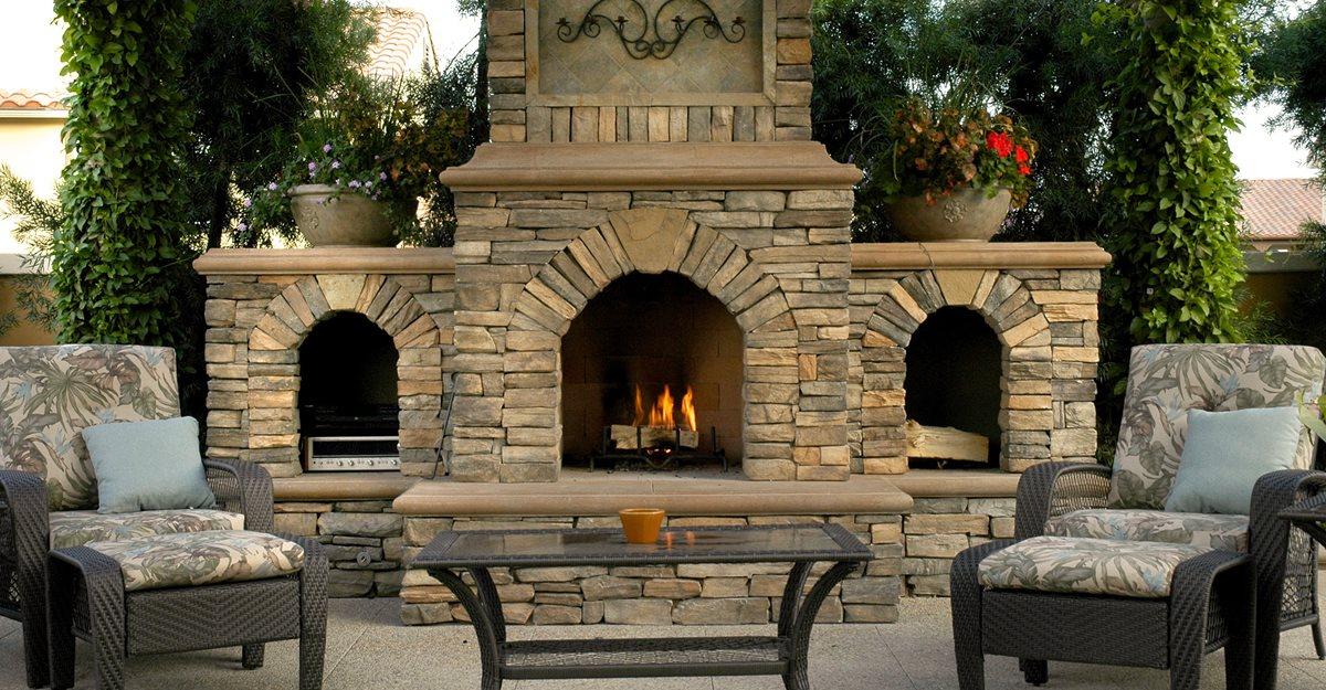 Concrete Outdoor Fireplace Ideas For, Patio Fireplace Designs