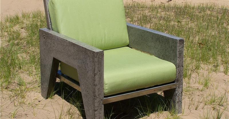 concrete chair outdoor furniture natural concrete artistry hamilton mi cement furniture