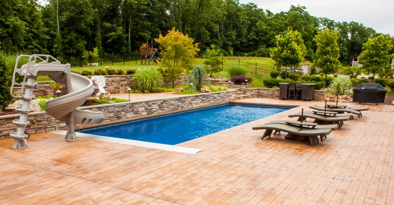 Deck pool design ideas modern diy art designs for In ground pool deck ideas