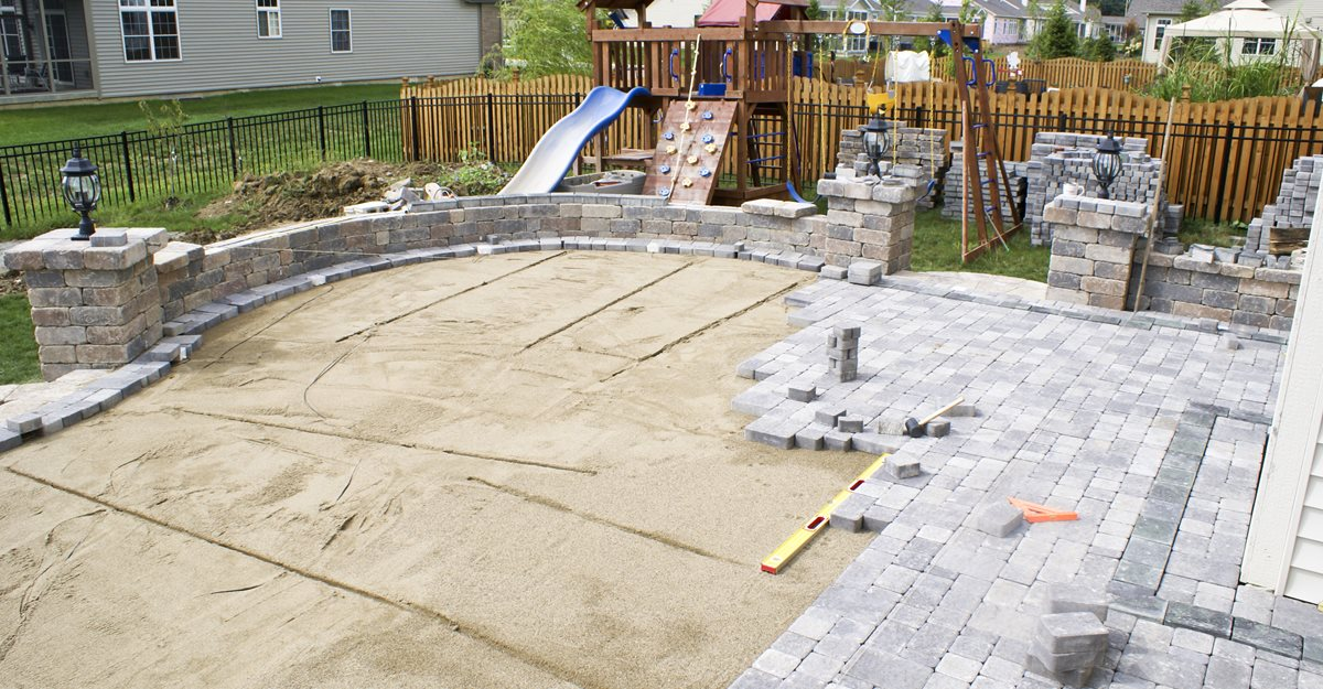 Adding Pavers To Concrete Patio Decorate Concrete Pavers And Paver Infromation The Concrete Network