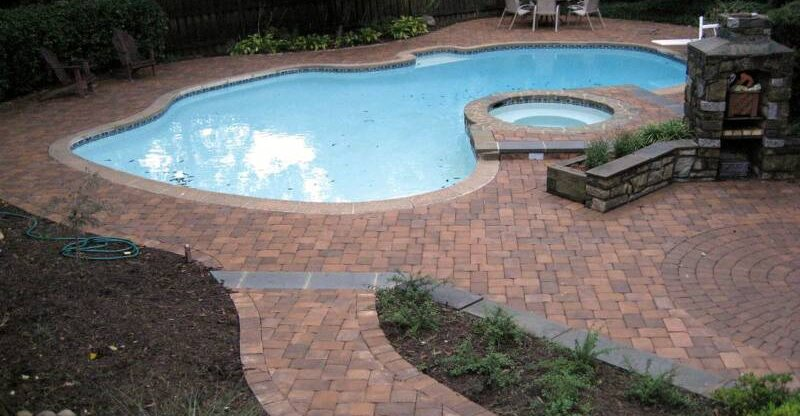Pool Deck Pavers NRC Landscape Construction Vienna, VA