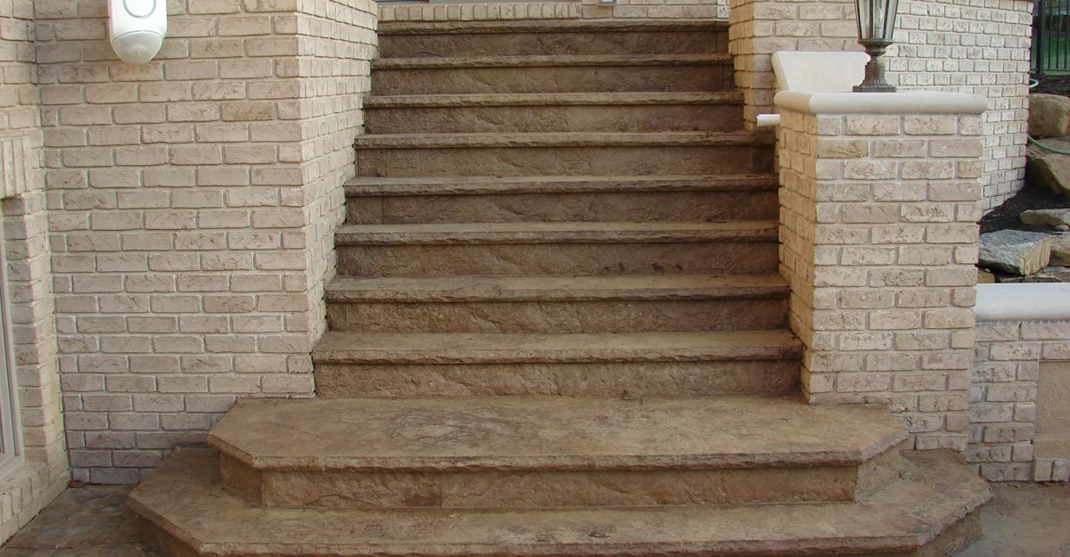 Stamped Concrete Steps, Concrete Stairs Stamped Concrete J&H Decorative Concrete LLC Uniontown, OH