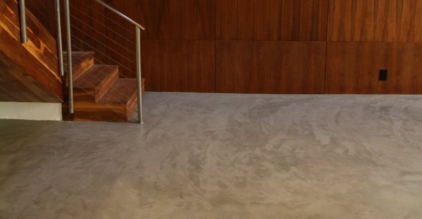 Basement flooring why concrete is a good basement floor for Concrete floor covering ideas