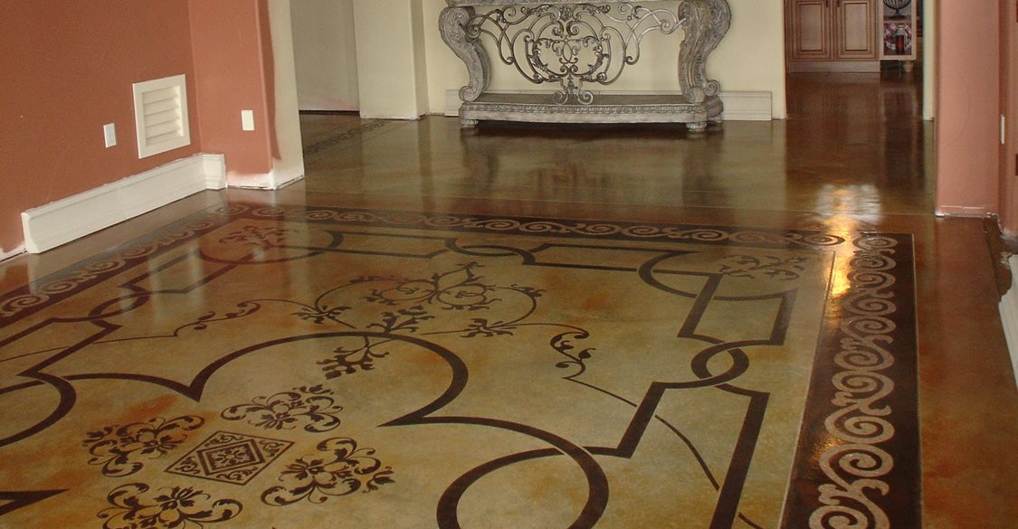 Stenciling Concrete Creating Concrete Patterns With Stencils And