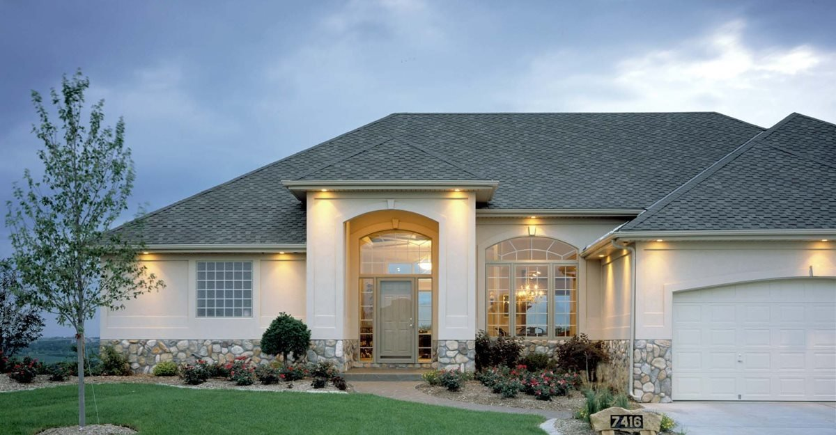 stone concrete home concrete homes fox blocks omaha ne - Concrete Home Designs