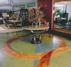Geometric, Pastel Concrete Floors AFS Creative Finishes Sacramento, CA