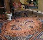 Concrete Floor Stencil, Modello Stenciled Floor, Stenciled Concrete Floor Concrete Floors Modello Designs Chula Vista, CA