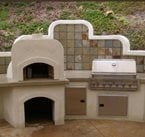 披萨烤箱混凝土地板的概念在混凝土常量。公司。圣地亚哥,