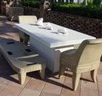 白色,庭院家具混凝土地板混凝土- n柜台卢茨,佛罗里达