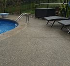 Swimming Pool, Exposed Aggregate, Stamped Coping Exposed Aggregate TowneScapes LLC Batavia, OH