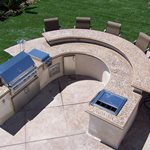 Round Countertop Picture Site The Green Scene Chatsworth, CA