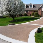 Pea Gravel, Exposed Aggregate Concrete Driveways Concrete Tailors, LLC Noblesville, IN