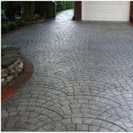 Charcoal, Silver Site Starburst Concrete Design Brewster, NY