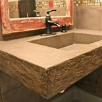 Concrete Sink, Bathroom Sink, Floating Sink Concrete Sinks Concrete Interiors Martinez, CA