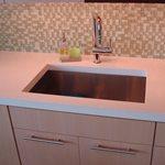 Kitchen Sink, Square Sink, Faucet Architectural Details Evolution Architectural Concrete Essex, CT