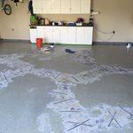Garage Floor, Crack Repair Site Rhino Carbon Fiber Wall Supports Reynoldsburg, OH