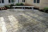 English Yorkstone Stamped Patio Site Scofield Systems ,