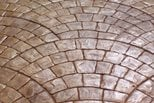 European Fan Design, Stamped Concrete Site Brickform Rialto, CA