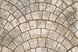 Limestone, European Fan, Stamped Concrete Site Scofield Systems ,