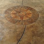 Stamped Compass Medallion Site Brickform Rialto, CA